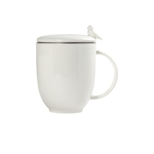 Caneca para chá com infusor birds