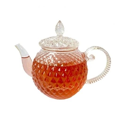 Chaleira de vidro Lapidado com infusor Catherine Fine Teas
