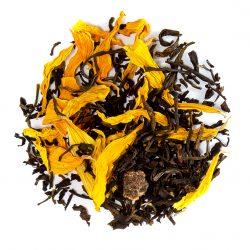 Blend de chá preto com pêssego