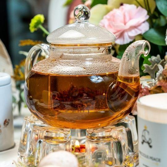 chaleira de vidro 1 litro Catherine Fine Teas