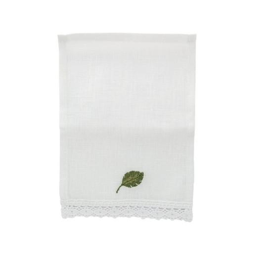 mini guardanapo em linho folhas