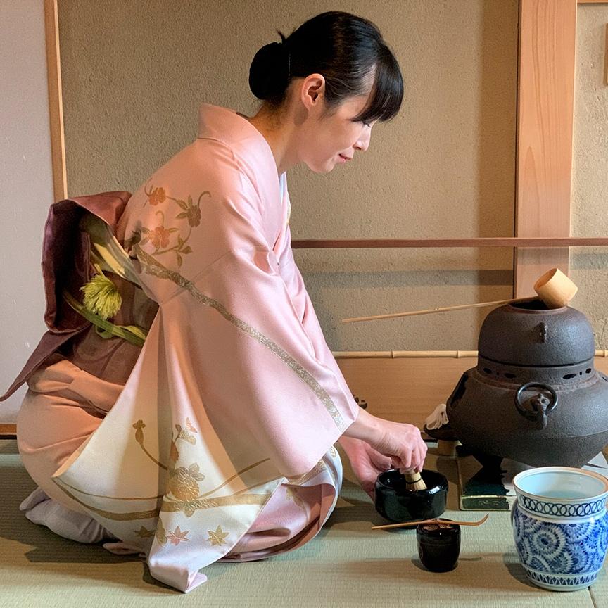 Camellia Tea Flower Cerimônia do Chá em Kyoto
