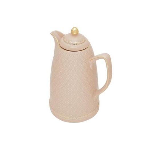 garrafa térmica de porcelana rosa