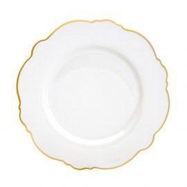 porcelana fina filetada ouro wolff