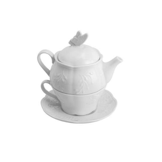 Conjunto para chá 2 em 1 Butterfly Catherine Fine Teas
