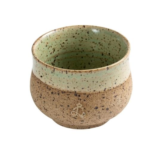 Copo oriental para chá Rustic verde