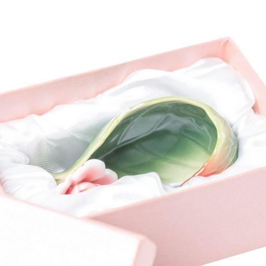 Descanso para infusor folha caixa de presente