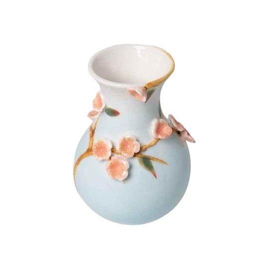 Vaso em porcelana em relevo Sakura