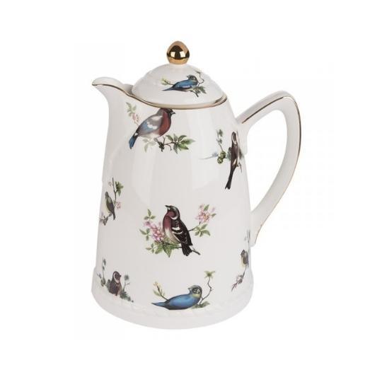 garrafa térmica de porcelana birds Catherine Fine Teas
