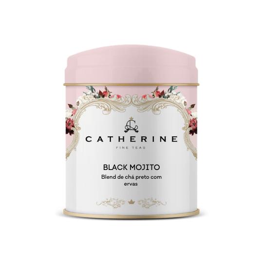 Black Mojito blend de chá preto com ervas lata