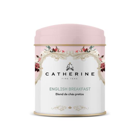 English breakfast blend de chás pretos lata